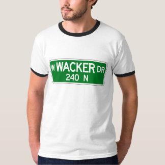 Wacker Drive, Chicago, IL Street Sign T Shirt
