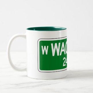 Wacker Drive, Chicago, IL Street Sign Two-Tone Coffee Mug