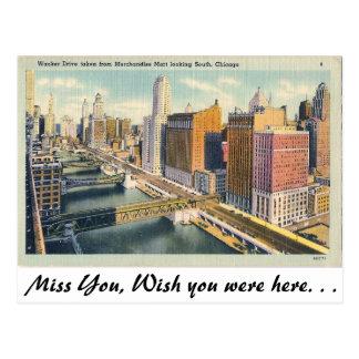 Wacker Drive, Chicago, Illinois Postcard
