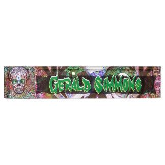Wacky and Wild Sugar Skull Personalize Nameplate