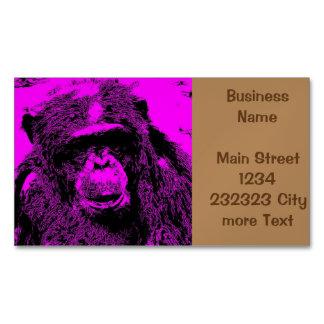 wacky art - chimp pink (C) Magnetic Business Card