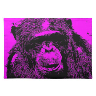 wacky art - chimp pink (C) Placemat