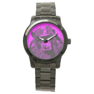 wacky art - chimp pink (C) Wristwatch