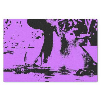 """Wacky art - hippo (C) 10"""" X 15"""" Tissue Paper"""