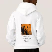 wacky art -panda orange (C) Hoodie