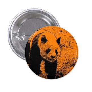 wacky art -panda orange (C) Pinback Button
