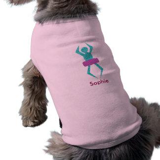 Wacky Ballerina Custom Doggie Tank Tee