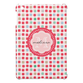 Wacky Boxes multi color monogrammed pattern Cover For The iPad Mini