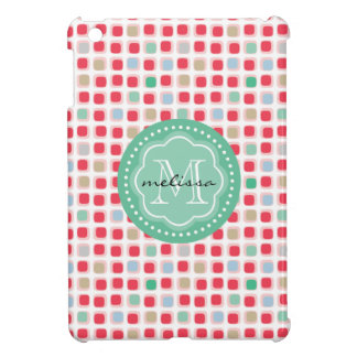 Wacky Boxes multi color monogrammed pattern iPad Mini Cover