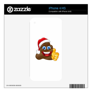 Wacky Brilliant Santa Poop Emoji Decals For The iPhone 4S
