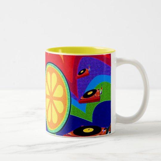 Wacky Citrus Two-Tone Coffee Mug