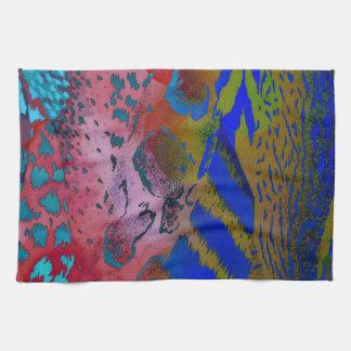 Wacky Colorful Animal Leopard Print Kitchen Towels