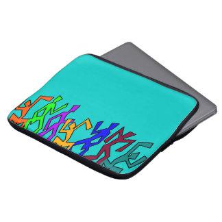 Wacky Dancers on Pastel Green Laptop Sleeve