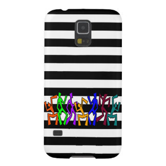 Wacky Dancers on Stripes Case For Galaxy S5