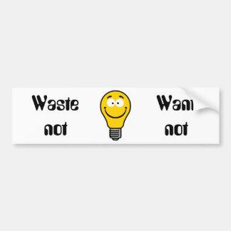 Wacky Lightbulb Car Bumper Sticker