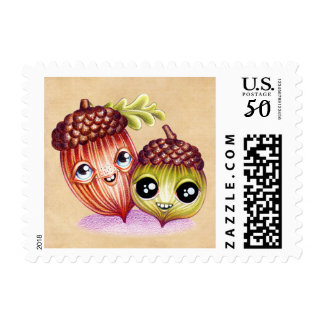 Wacky Nutties Halloween Thanksgiving Postage Stamp