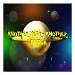 Wacky Space Voyage Birthday Party Invitation