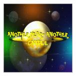 "Wacky Space Voyage Birthday Party Invitation 5.25"" Square Invitation Card"