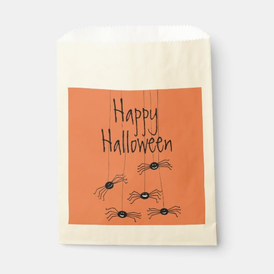 Wacky Spiders Halloween Favor Bag