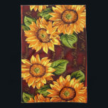 """Wacky Sunflowers Hand Towel<br><div class=""""desc"""">The image used for this product began as a photo of a carpet runner!  Please be sure to search our store for our &quot;Change the Color&quot; Sunflower products - mix and match to your home&#39;s decor.  Have fun creating your own unique look!</div>"""