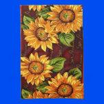 Wacky Sunflowers Towel