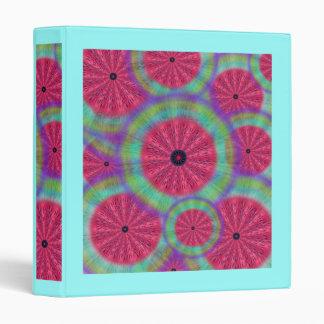 Wacky Sunshine Watermelon Mandala 1' Binder