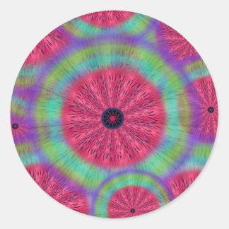 Wacky Sunshine Watermelon Mandala Stickers