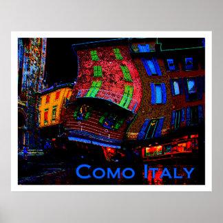 Wacky Travel Posters - Como Italy