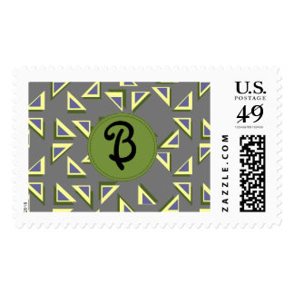 Wacky Triangle Letter Stamp