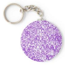 Wacky waves and shapes purple keychain