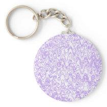 Wacky waves and shapes purple lavendar keychain
