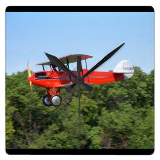 Waco 10, 1929, Blakesburg, IO_Classic Aviation Square Wall Clock