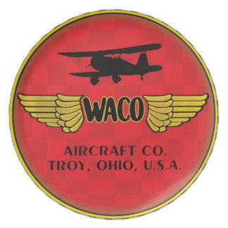 Waco aircraft company sign melamine plate