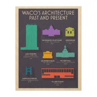 Waco Architecture Wood Print
