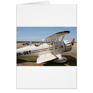 Waco biplane aircraft card