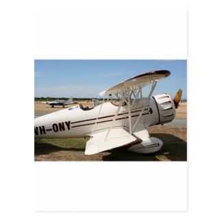 Waco biplane aircraft postcard