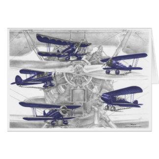 Waco Biplane Cards