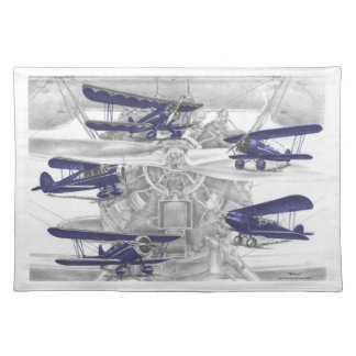 Waco Biplane Cloth Placemat