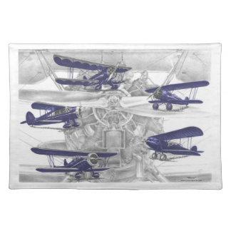 Waco Biplane Placemats