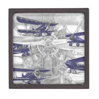 Waco Biplane Premium Trinket Box