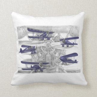 Waco Biplane Throw Pillow