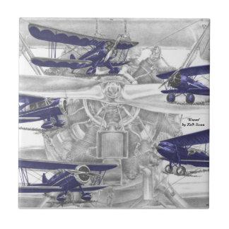 Waco Biplane Ceramic Tile