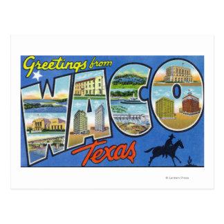Waco, letra ScenesWaco, TX de TexasLarge Postal