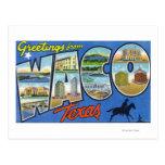 Waco, letra ScenesWaco, TX de TexasLarge Postales