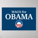 WACO para el personalizado de Obama su ciudad pers Impresiones