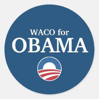 WACO para el personalizado de Obama su ciudad pers Pegatinas