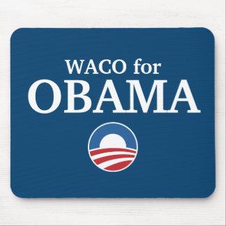 WACO para el personalizado de Obama su ciudad pers Alfombrillas De Ratón