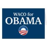 WACO para el personalizado de Obama su ciudad pers Felicitaciones