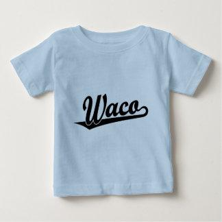 Waco script logo in black tshirt