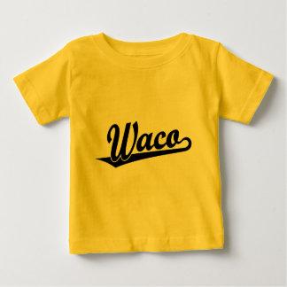 Waco script logo in black tee shirts